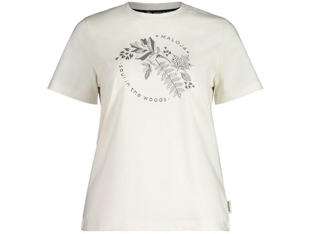 Maloja ZirbeM. SS T-Shirt Women, vintage white